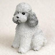 Poodle Gray w/Sport Cut Bonsai Tree Figurine