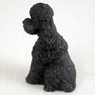 Poodle Black w/Sport Cut Bonsai Tree Figurine