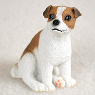 Jack Russell Terrier Black & White w/Smooth Coat Bonsai Tree Figurine