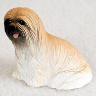 Lhasa Apso Brown Bonsai Tree Figurine