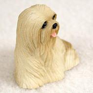 Lhasa Apso Blonde Bonsai Tree Figurine
