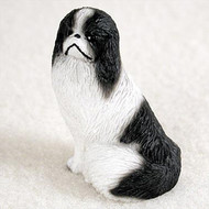Japanese Chin Black & White Bonsai Tree Figurine