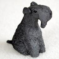 Kerry Blue Terrier Bonsai Tree Figurine