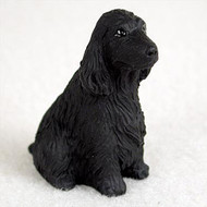 Cocker Spaniel English Black Bonsai Tree Figurine