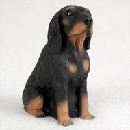 Coonhound Black & Tan Bonsai Tree Figurine