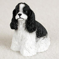 Cocker Spaniel Black & White Bonsai Tree Figurine