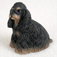 Cocker Spaniel Black & Tan Bonsai Tree Figurine
