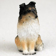 Sheltie Tricolor Bonsai Tree Figurine