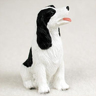 Springer Spaniel Black & White Bonsai Tree Figurine