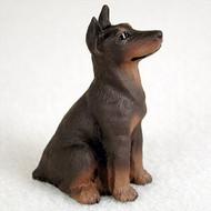 Doberman Pinscher Red w/Cropped Bonsai Tree Figurine