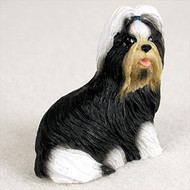 Shih Tzu Black & White Bonsai Tree Figurine