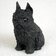 Brussels Griffon Black Bonsai Tree Figurine