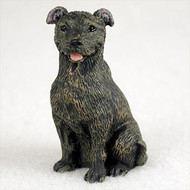 Staffordshire Bull Terrier Brindle Bonsai Tree Figurine