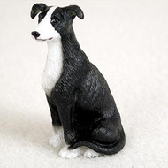Greyhound Black & White Bonsai Tree Figurine