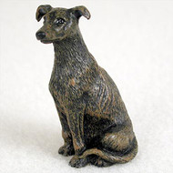 Greyhound Brindle Bonsai Tree Figurine