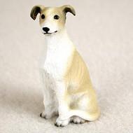 Tan Greyhound Bonsai Tree Figurine