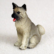 Akita Gray Bonsai Tree Figurine