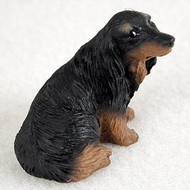 Dachshund Longhaired Black Bonsai Tree Figurine