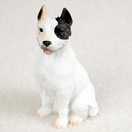 Pit Bull Terrier White Bonsai Tree Figurine
