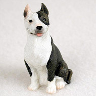Pit Bull Terrier Brindle Bonsai Tree Figurine