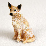 Australian Cattle Red Dog Bonsai Tree Figurine