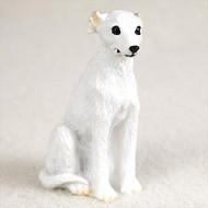 Whippet White Bonsai Tree Figurine