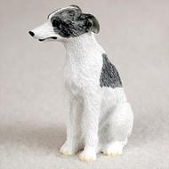 Whippet Gray & White Bonsai Tree Figurine