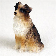 Australian Shepherd Brown Bonsai Tree Figurine