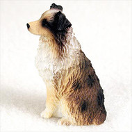 Australian Shepherd Brown w/Docked Tail Bonsai Tree Figurine
