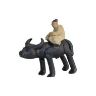 Chinese Figurine - Man on Standing Ox (F-005)