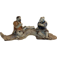 Chinese Figurine - Two Men on Rocks (F-017)
