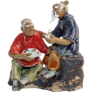 Chinese Figurine - Man with Pipe & Man with Fan (F-029)