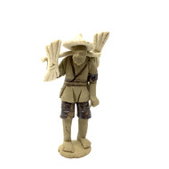 Chinese Figurine - Man with Hat Carrying Wheat (F-030)
