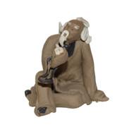 Chinese Figurine - Man Sitting Smoking a Pipe (F-077)