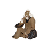 Chinese Figurine - Man Sitting Smoking Pipe  (F-086)