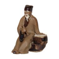Chinese Figurine - Wise Man Sitting & Writing (F-087)