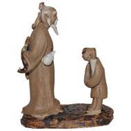 Chinese Figurine - Mudman & son (F-093)