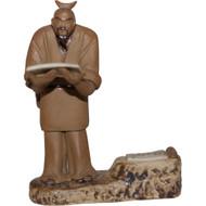 Chinese Figurine - Large Mudman Holding Script (F-097)