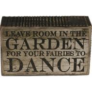 Fairy Garden Figurine - Fairy Dance in the Garden Sign (FGF-003)