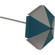 Fairy Garden Figurine - Blue Beach Umbrella (FGF-006)