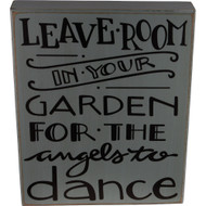 Fairy Garden Figurine - Fairy Garden Sign - Angels Dance in the Garden (FGF-013)