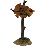Fairy Garden Figurine - Fairy Crossing Leaf Sign (FGF-044)