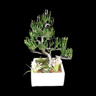 364' Silver Platted Potted Wire Tree