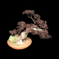 314' Antique Copper Potted Wire Tree