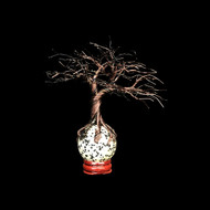 80' Black Wire Potted Wire Tree