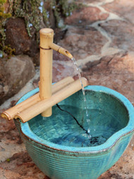 "Bamboo Fountain Kit - 12"" Adjustable Spout"