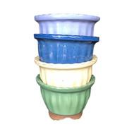 Glazed Round Tokoname Bonsai Pot