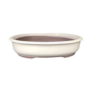 Cream Glazed Bonsai Pot (jp35-19)