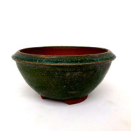 "6"" Andy Arnault Green Glazed Pot (AA361)"