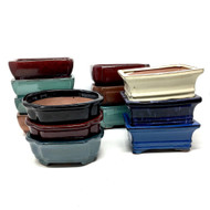 "6"" Glazed Ceramic Bonsai Pots (Choose Style)"